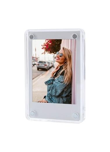 Fujifilm Instax mini Film Uyumlu Mıknatıslı Pleksi Resim Çerçevesi Renkli